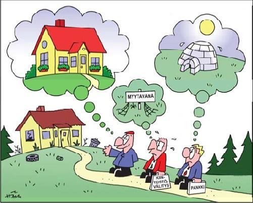 Tinkiminen asuntokaupassa 2019